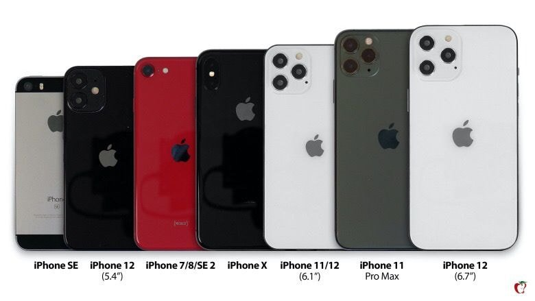 아이폰 12 크기 비교