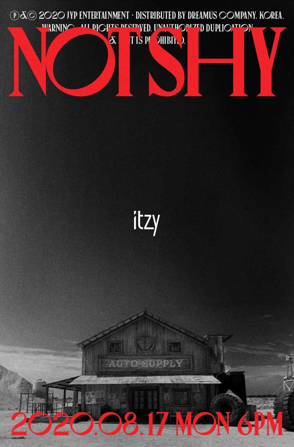 있지 ITZY <Not Shy> 8월 17일 컴백 포스터