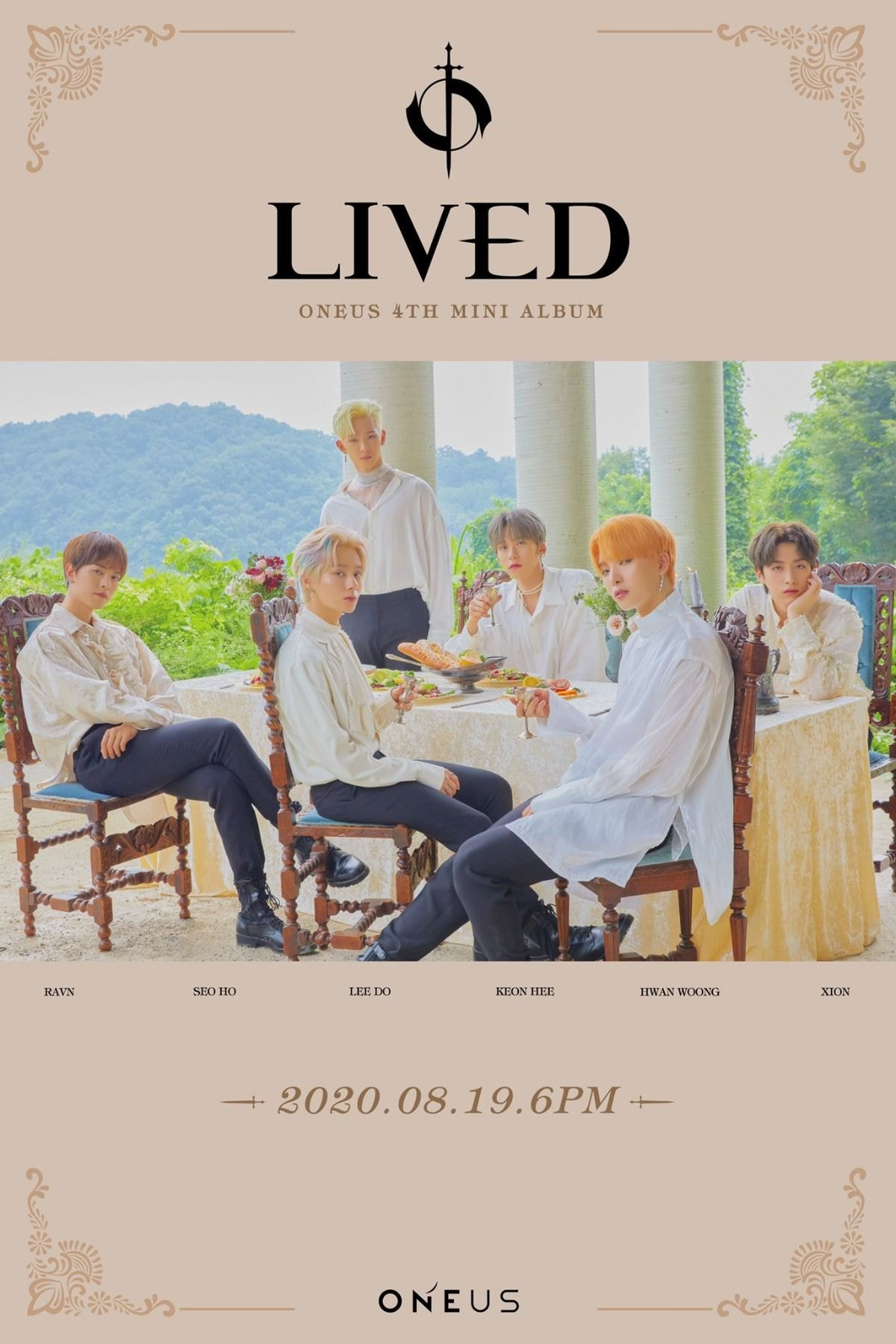 [#ONEUS]  4TH MINI ALBUM 'LIVED'  2020.08.19 6PM RELEASE✔  🔸 ONEUS CONCEPT PHOTO 🔸  #원어스 #COME_BACK #LIVED