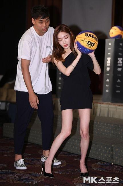 3대3 농구 홍보대사 #청하